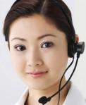 Customer Service Representative Using Headset Microphone